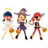 Trick Or Treat Children Walking Royalty Free Stock Image
