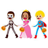 Trick Or Treat Children Walking Stock Image