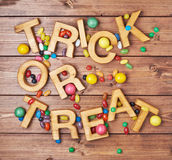 Trick or treat composition Stock Photo