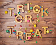 Trick or treat composition Royalty Free Stock Photo