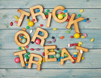 Trick or treat composition Royalty Free Stock Photos