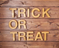 Trick or treat composition Stock Photography