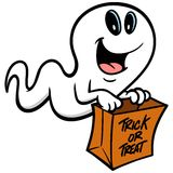 Trick or Treat Ghost Stock Image