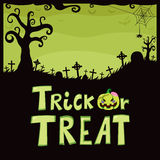 Trick Or Treat Green Cemetery Stock Images