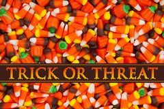 Trick or Treat Greeting Royalty Free Stock Images