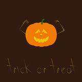 Trick or treat greeting card Royalty Free Stock Photo