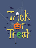 Trick or Treat Greeting Poster Stock Photography
