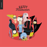 Trick or treat group of children Royalty Free Stock Image