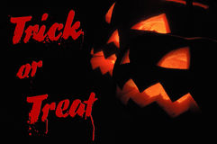 Trick or treat halloween background stock images