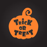 Trick or treat halloween background. Vector template for design Royalty Free Stock Photo