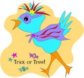 Trick or Treat Halloween Bird Royalty Free Stock Photos