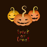 Trick Or Treat Halloween Card Royalty Free Stock Photography