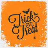 Trick or treat halloween lettering background Royalty Free Stock Image