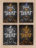 Trick or Treat Halloween postcards royalty free illustration