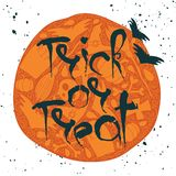 Trick or Treat Halloween poster with lettering Stock Photo