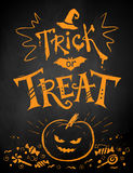 Trick or Treat Halloween poster Stock Photo