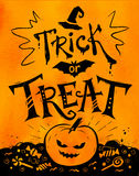 Trick or Treat Halloween poster Royalty Free Stock Images