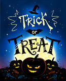 Trick or Treat Halloween poster Stock Photography