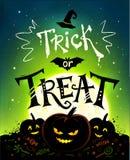 Trick or Treat Halloween poster Stock Photos