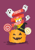 Trick or Treat Halloween poster Royalty Free Stock Image