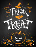Trick or Treat Halloween poster Royalty Free Stock Photos