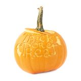 Trick or treat Halloween pumpkin isolated Royalty Free Stock Photos