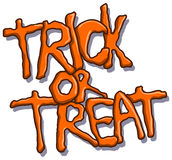 Trick or treat halloween text Royalty Free Stock Images
