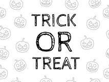 Trick or treat Halloween stock images