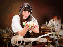 Trick or treat halloween witch Royalty Free Stock Photos