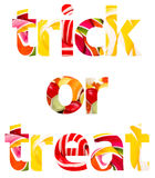 Trick Or Treat Halloween Words Royalty Free Stock Photography