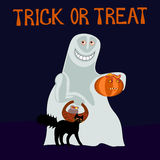 Trick or treat - happy ghost Royalty Free Stock Photo
