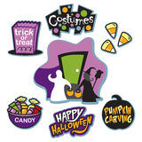 Trick or treat illustration collection, trick or treat, and candy  Royalty Free Stock Photography