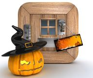 Trick or Treat Jack o lantern Stock Image