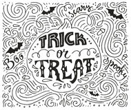 Trick-or-treat lettering Stock Photo