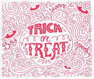 Trick-or-treat lettering Royalty Free Stock Photo
