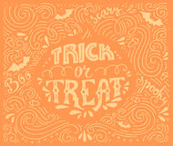 Trick-or-treat lettering Stock Image