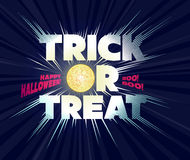 Trick or treat. Lettering. Stock Photography