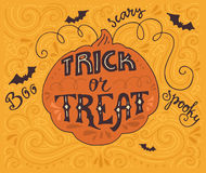 Trick-or-treat lettering Stock Photography