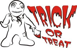 Trick or treat -  monster child Stock Photography