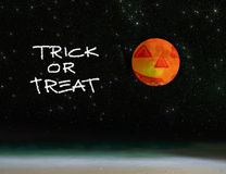 Trick or treat by night Stock Image