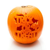 Trick or treat pumpkin Stock Photography