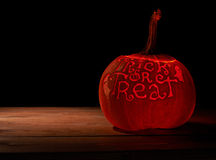 Trick or Treat pumpkin composition Stock Photo