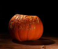 Trick or Treat pumpkin composition Royalty Free Stock Photography