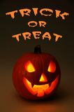 Trick or treat and pumpkin. Royalty Free Stock Image