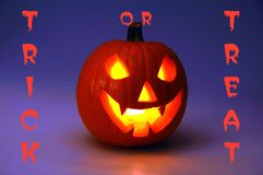 Trick or treat pumpkin. Royalty Free Stock Photo
