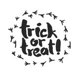 Trick or Treat with Raven Traces Stock Photography