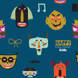 Trick or treat seamless pattern Stock Photography
