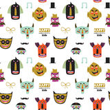 Trick or treat seamless pattern Royalty Free Stock Photos
