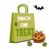 Trick or treat shopping bag Stock Photography