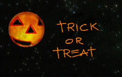 Trick or treat with stars Royalty Free Stock Photo